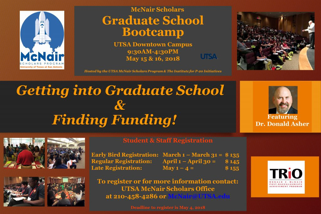 UTSA 5th Annual Grad School Boot Camp