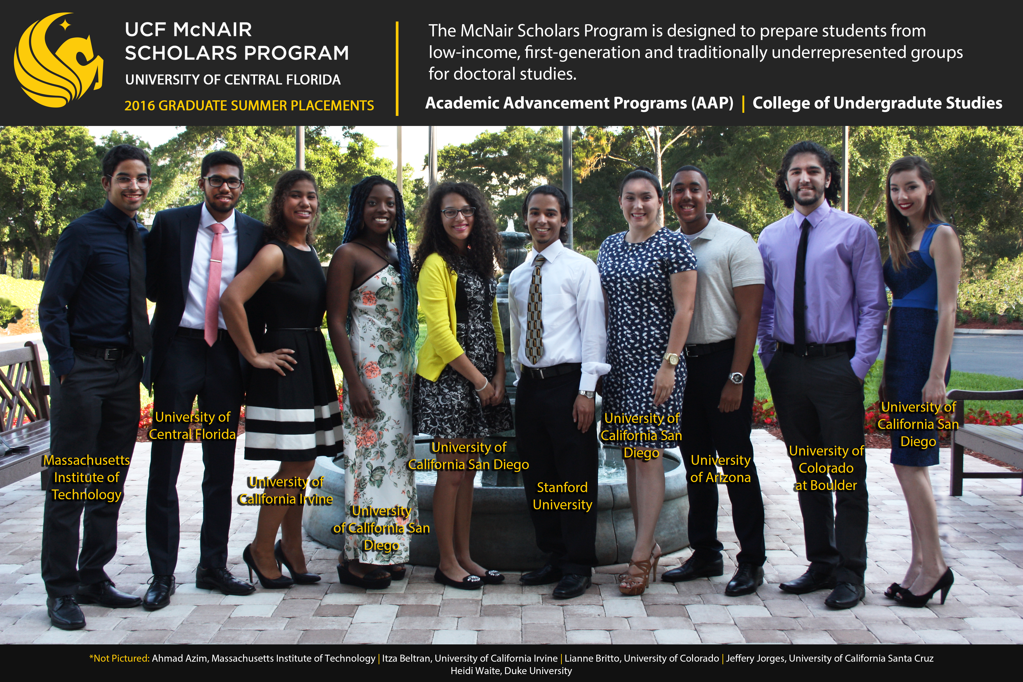 UCF 2016 Summer Research Placements